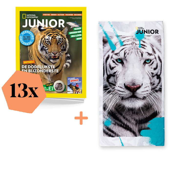 National Geographic Junior Abonnement Jaar Basis Witte Tijger