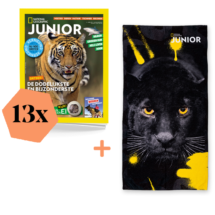 National Geographic Junior Abonnement Jaar Basis Zwarte Tijger
