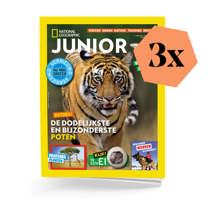 National Geographic-Junior Abonnement 3 nummers