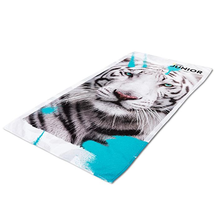 National Geographic Junior strandlaken witte tijger
