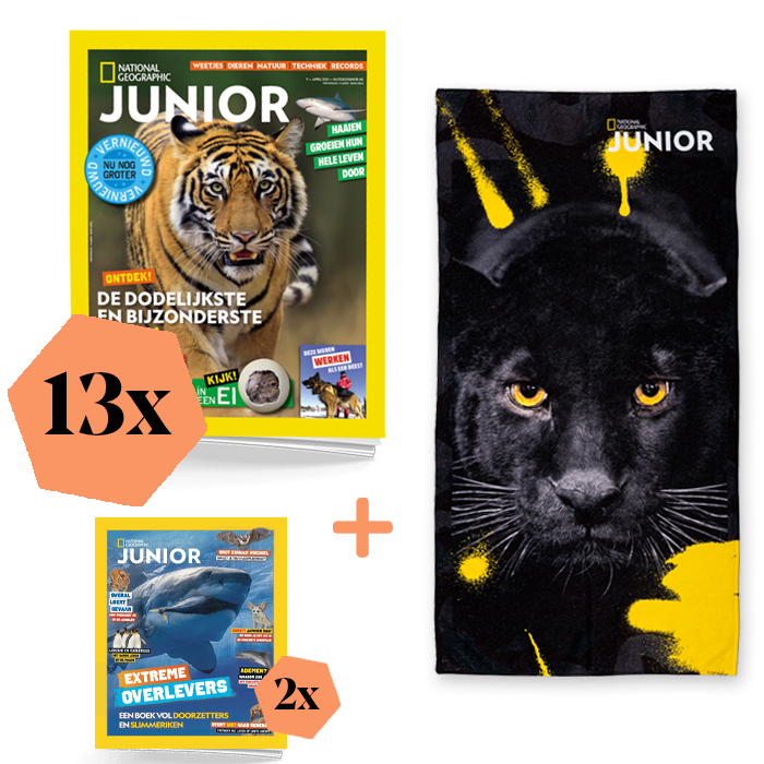 National Geographic Junior Abonnement Jaar Extra Zwarte Tijger
