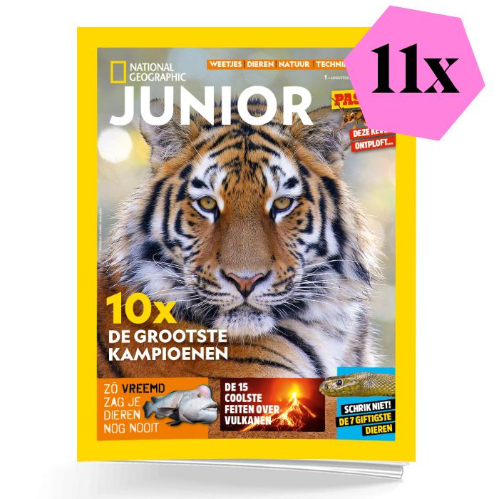 National Geographic Junior schoolabonnement 1 jaar
