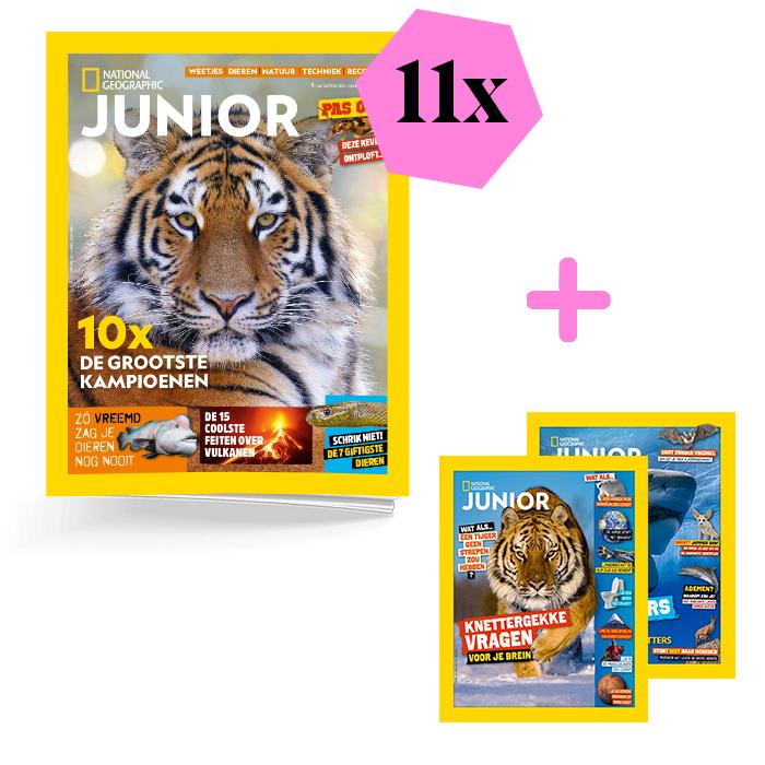 National Geographic Junior schoolabonnement 1jaar extra